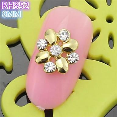10st rh952 speciale ontwerp bloem luxe strass 3d legering nail art diy nagel schoonheid nagel - Decoratie murale ontwerp salon ...