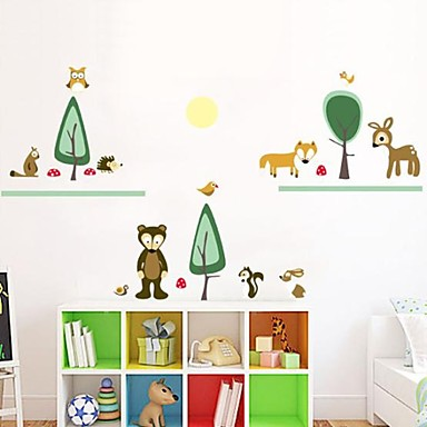 Animali Botanica Cartoni animati Adesivi murali Adesivi aereo da parete Adesivi decorativi da ...