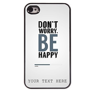 Buy Personalized Phone Case - Worry Design Metal iPhone 4/4S
