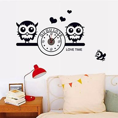 Murali stickers autoadesivi orologio da parete gufi for Stickers da parete ikea