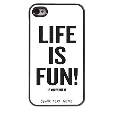 Buy Personalized Phone Case - Life Fun Design Metal iPhone 4/4S
