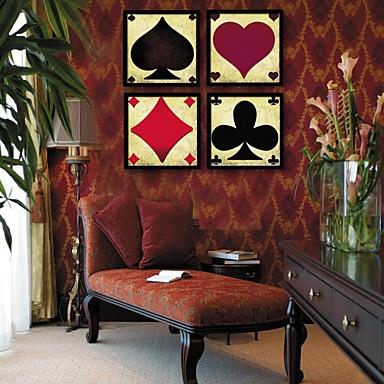 Buy Abstract Framed Canvas / Set Wall Art,PVC Black Mat Frame Art