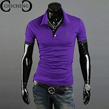 Men's Short Sleeve Polo , Cotton Casual/Plus Sizes