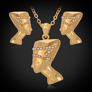 Buy U7® Fancy Necklace Pendant Stud Earrings 18K Real Gold Platinum Plated Austrian Rhinestone Fashion Jewelry Set