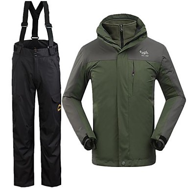 Buy Men's Winter Jacket / Clothing Sets/Suits Skiing Waterproof Thermal Warm Windproof Army GreenS M L XL XXL