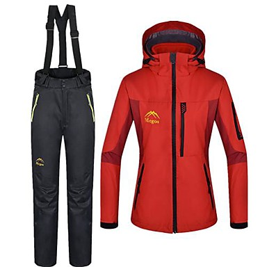 Buy Women's Woman's Jacket / Winter Clothing Sets/Suits Waterproof Thermal Warm RedS M L XL XXL