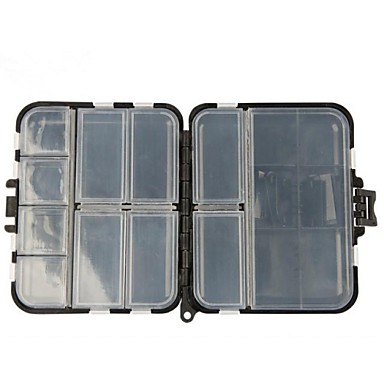 Black Double-faced Sea&Rock Fishing Tool Plastic Boxes for Fishing Parts Fishing Tackle Box Hard Plastic