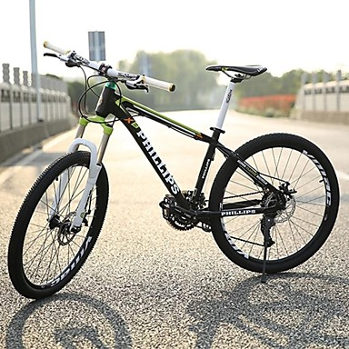 Mountain Bike Cycling 27 Speed 27.5 Inch Unisex / Men's / Women's SHIMANO M370-3/9 Double Disc Brake Springer Fork Rear Suspension