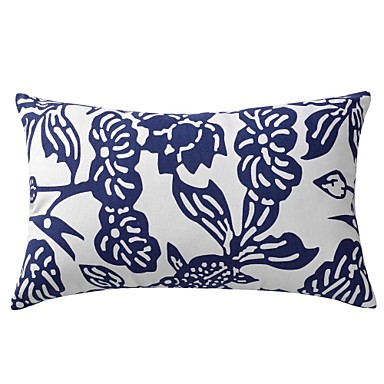 Buy Modern Floral Cotton Decorative Pillow Cover