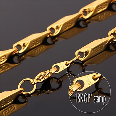 Buy U7® Cool Men's Chunky Necklace 18K Gold Plated 316L Stainless Steel Chain Men Fashion Jewelry