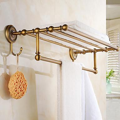 barre porte serviette cuivre antique fixation murale 600 250 80mm laiton. Black Bedroom Furniture Sets. Home Design Ideas