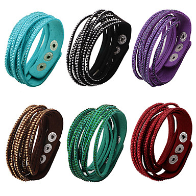Buy Bracelet/Friendship Bracelets / Wrap Vintage Alloy Rhinestone Nylon Daily Casual Sports Jewelry GiftBlack