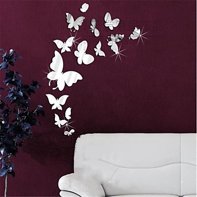 Animals 3d wall stickers mirror wall stickers decorative for 3d wall decoration stickers