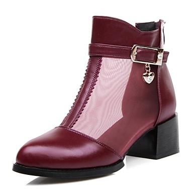 Zapatos de mujer tac n robusto puntiagudos botas a - Botas de trabajo ...