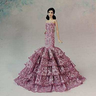 Barbie Doll Fuschia Wedding Organza Lace Dresses Dresses USD