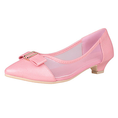 s shoes low heel pointed toe flats dress casual pink