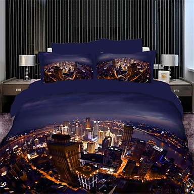 Buy 3D City Lights Duvet Cover Sets Queen Size 100% Cotton