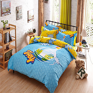 100% Cotton Reactive Printing Queen Size Beds