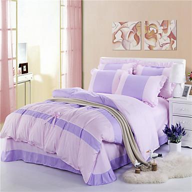 ensembles housse de couette h c en coton soie violet de 3161641 2017. Black Bedroom Furniture Sets. Home Design Ideas
