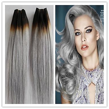 3pcs lot br silienne de cheveux vierge gris platine droite cheveux humains tissage faisceaux. Black Bedroom Furniture Sets. Home Design Ideas