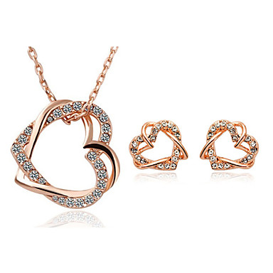 Buy Z&X® Alloy/Rhinestone Dual Hearts Jewelry Set Party/Daily 1set(Including Necklaces/Earrings)