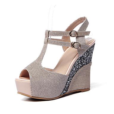 s shoes glitter wedge heel wedges peep toe sandals