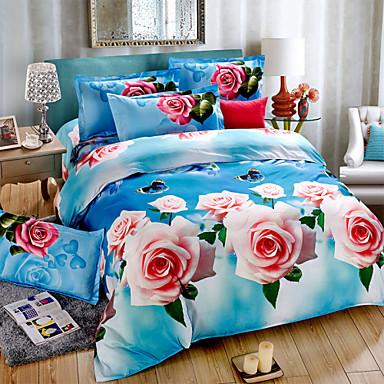 ensembles de couette queen la feuille de lit housse de couette 3d motif imprim ensembles de. Black Bedroom Furniture Sets. Home Design Ideas