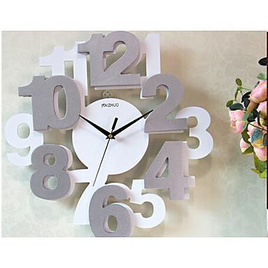 Reloj de pared madera moderno contempor neo madera - Reloj de pared moderno ...