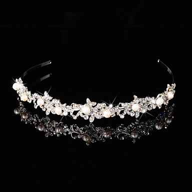 Bridal Crown Silver Tiara Queen Flower Leaf Butterfly ...