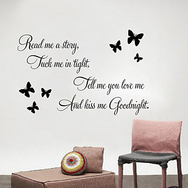 wall stickers wall decals read me english words quotes