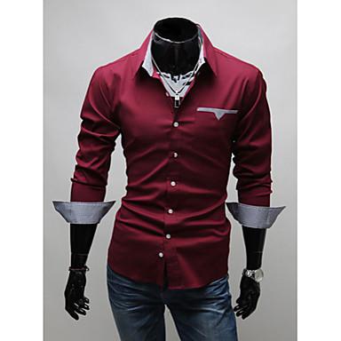 Мужские рубашки с модным воротником