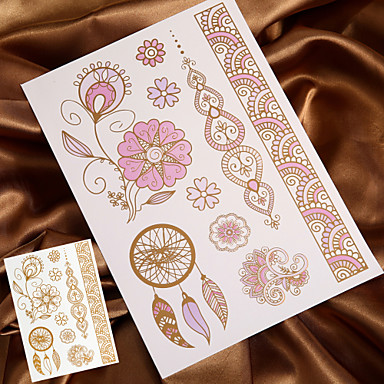 Buy Temporary Tattoo Sticker Metal Gold Flash Metallic (Changing Color Sunshine)