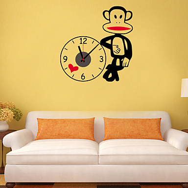 Buy DIY 3D Cartoon Big Mouth Monkey Wall Clock