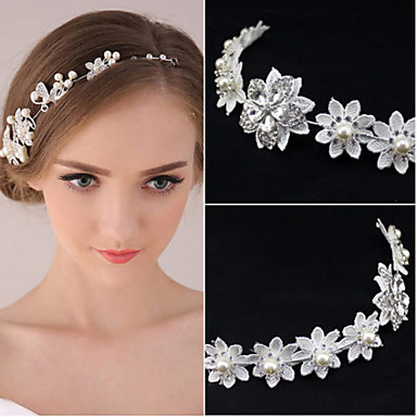 women 39 s pearl rhinestone wedding bridal tiara forehead. Black Bedroom Furniture Sets. Home Design Ideas