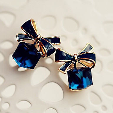 """""""New Arrival Hot Selling High Quality Crystal Bow Earrings"""""""
