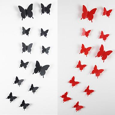 12pcs 3d pegatinas de pared de la mariposa arte for Pegatinas 3d pared
