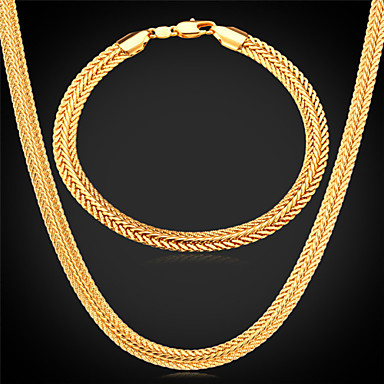 Buy Jewelry Necklaces / Bracelets & Bangles set Wedding Party Daily Casual Sports Alloy Gold Plated Rose Silver