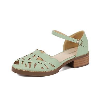 Zapatos de mujer cuero tac n robusto comfort punta redonda for Zapatos de trabajo blancos