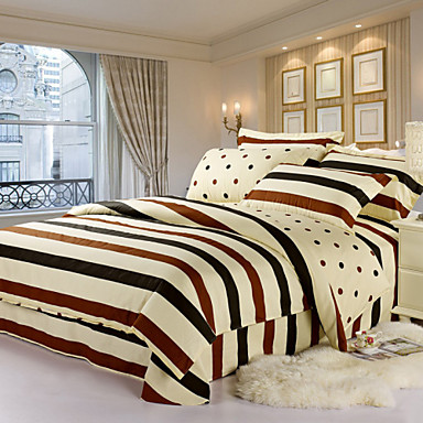 ensembles housse de couette coton multicolore de 3891924 2017. Black Bedroom Furniture Sets. Home Design Ideas