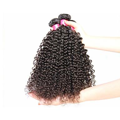 Buy Brazilian Curly Virgin Hair,Brazilian Kinky #1b 8 inch-34 inch Unprocessed Human Hair