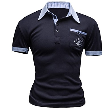 Men's Sports Casual/Daily Simple Active Summer Polo,Print Short Sleeves Others Medium