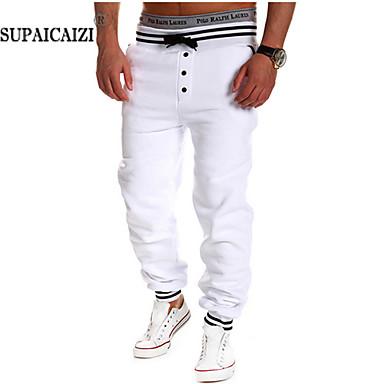 Men's Sweatpants , Casual/Sport/Plus Sizes Print/Plaids & Checks Cotton Blend