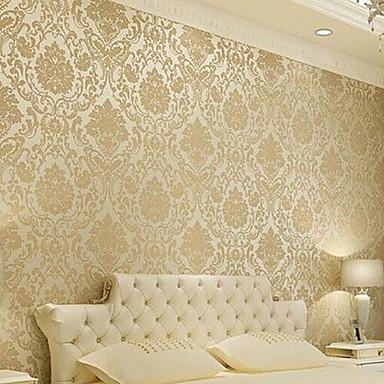 Blomster baggrund klassisk vægbeklædning,ikke vævet papir ja ...