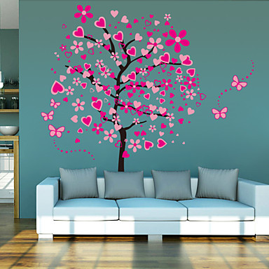 Navidad caricatura romance de moda paisaje - Stickers arbre chambre fille ...