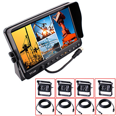 Buy RenEPai® 7 Inch 4 in1 HD Monitor + BUS Car Rear View Camera Waterproof Cable length 16M, 20M 9V~36V