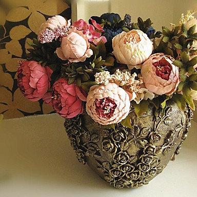 Buy 18.9 inchH European Style Artificial Flower Peony 1pc/set