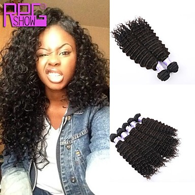 Buy Virgin Human Hair Kinky Curly Extension Natural Color Loose Wave Weaving 100g/pcs Stock