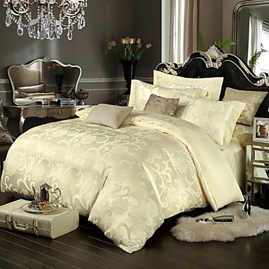 royal retro stil beige jacquard bettw sche set 4 teilig 4493565 2017. Black Bedroom Furniture Sets. Home Design Ideas