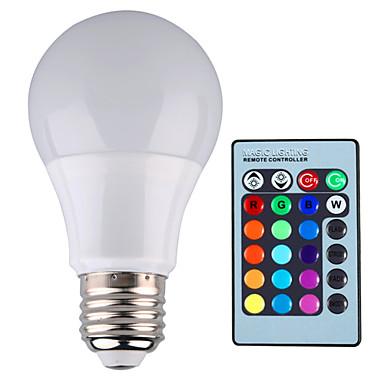 5w e26 e27 ampoules globe led a60 a19 1 led haute puissance 500 lm rgb gradable command e. Black Bedroom Furniture Sets. Home Design Ideas