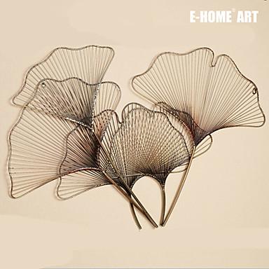Buy E-HOME® Metal Wall Art Decor,Leaf Shape Decor One PCS